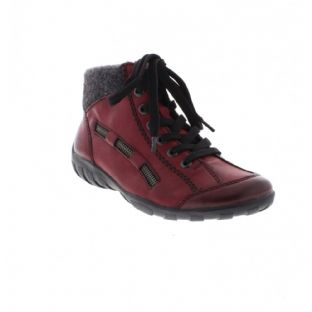 Rieker L6543-35 Ladies Red Combination Ankle Boots